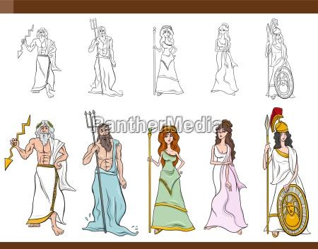 grecki bogowie ilustracja kreskowka
