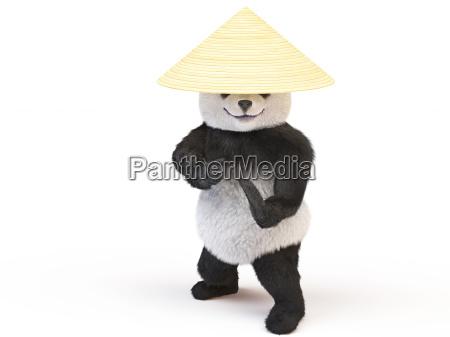 charakter chineese panda puszysty pluszowy