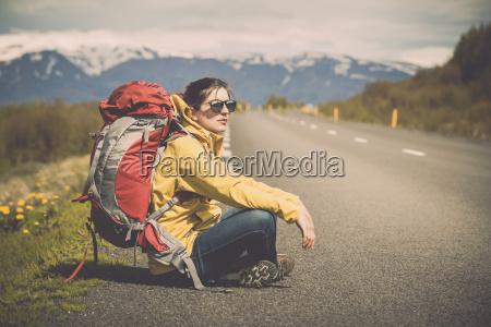 backpacker turystyczny