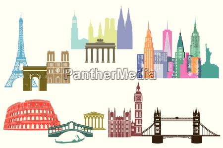 widok i panoramy miast swiata