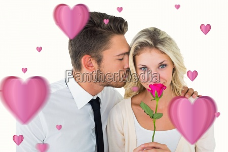 composite, image, of, handsome, man, kissing - 15300513