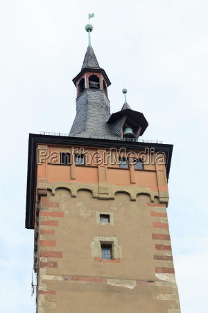 wuerzburg town hall tower with bell