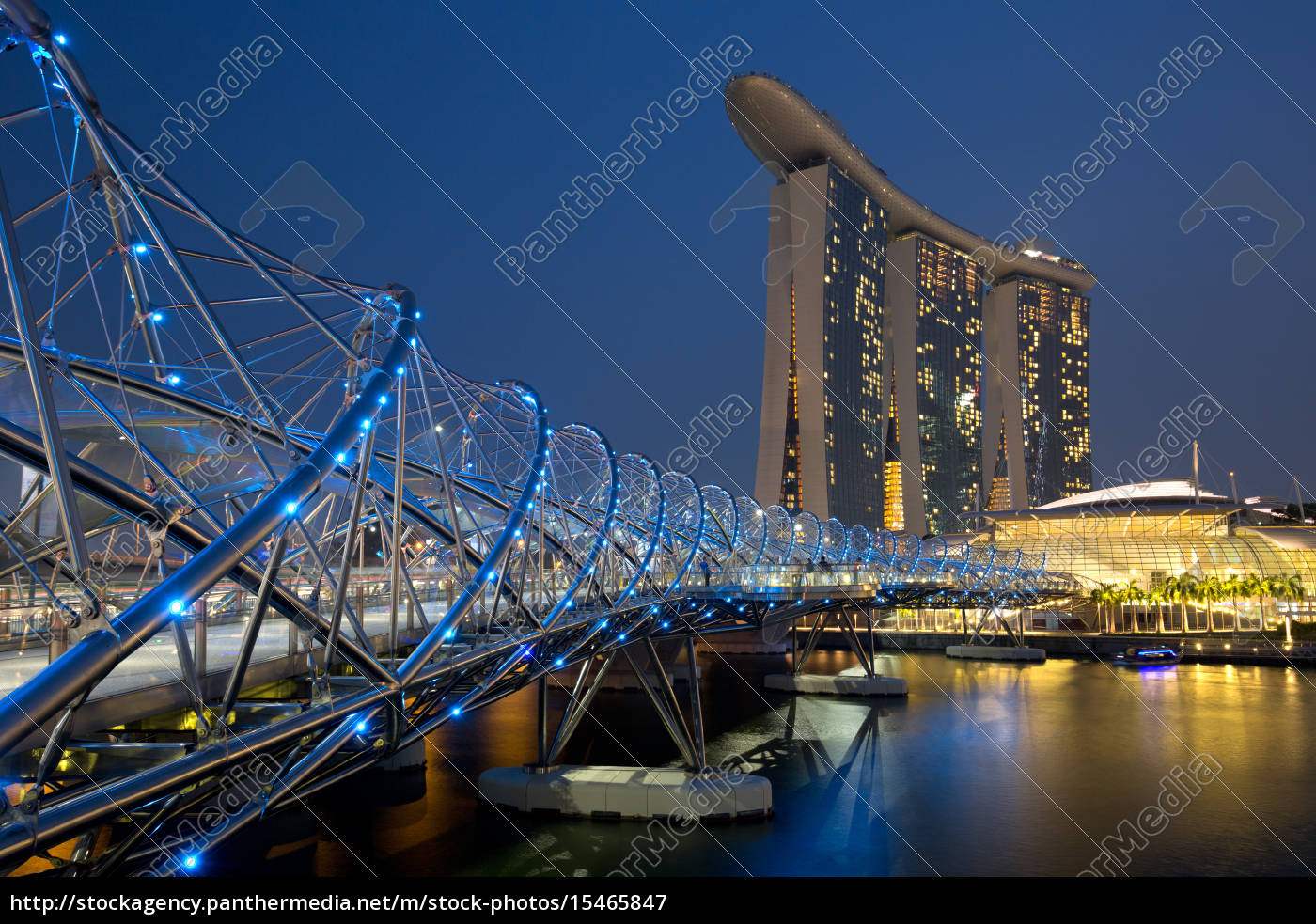 singapur, marina, bay, helix, bridge, city - 15465847