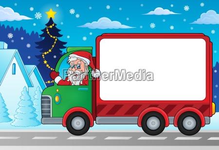 christmas theme delivery car zdjecie 4
