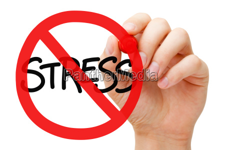 koncepcja znak zakazu stresu