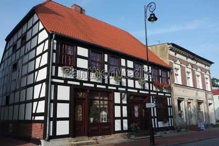 half timbered house in pomerania