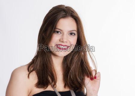 young brunette girl face