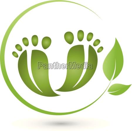 dwie nogi i lisci logo pielegnacja