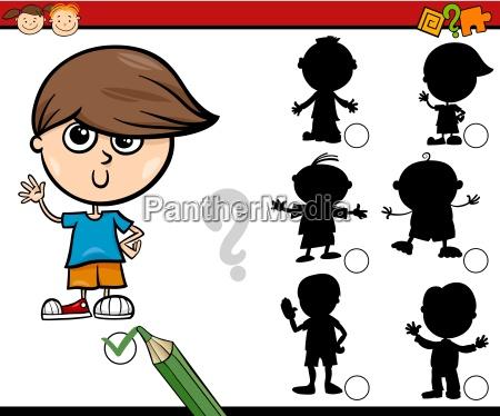 shadows task cartoon dla dzieci
