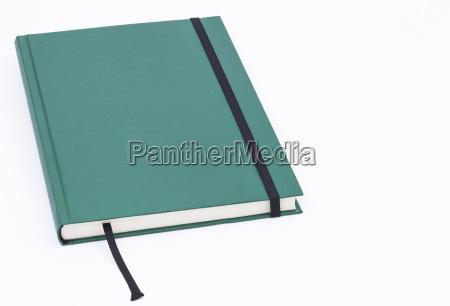 zielony notatnik