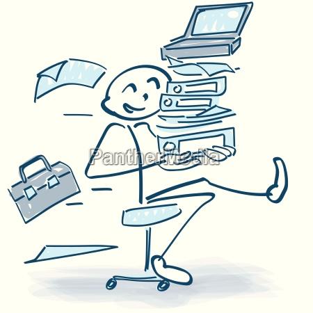 stick figure z krzeslo rolling office