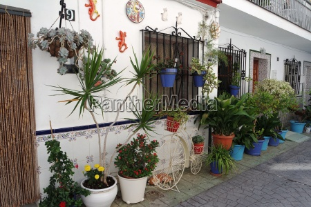 decorated with flowers house in andalucia