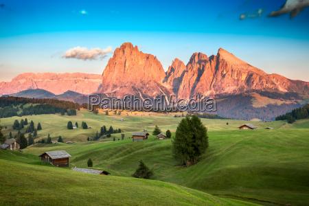alpy poludniowy tyrol voralpen pastwisko pejzaz