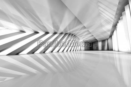 futurystyczny pustym pokoju renderowania 3d