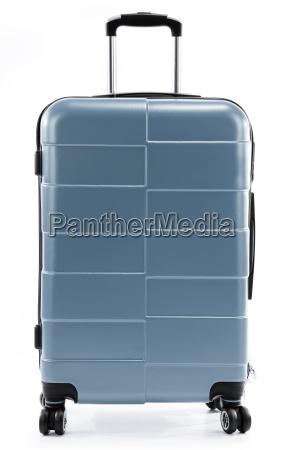duza czerwona walizka podrozy samodzielnie na