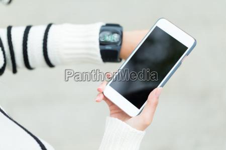 kobieta womane baba telefon dotknij dyskusja