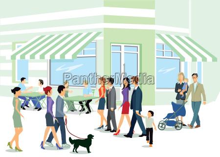 mieszkancy miasta spaceru