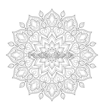 ilustracja mandali do kolorowania doroslych