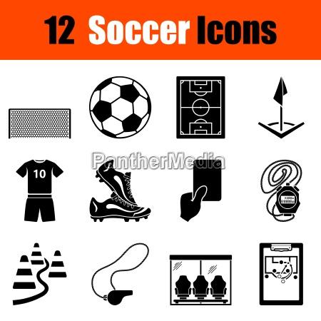 zestaw ikon pilkarskich