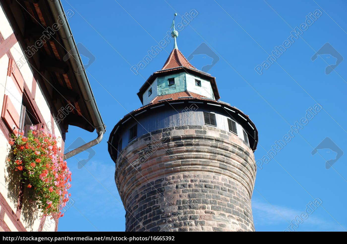 norymberga, zamek, norymberga, kaiserburg, wehrgang, sinwellturm - 16665392