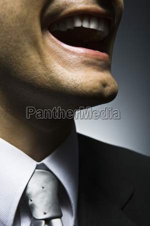 man laughing close up