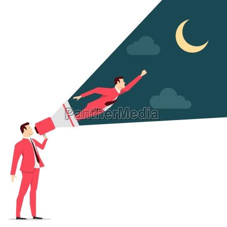 czerwony garnitur biznesmen motywacji ilustracja koncepcji
