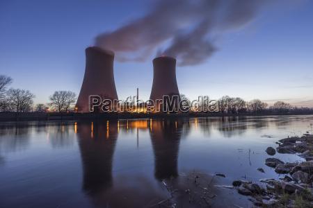 niemcy dolna saksonia grohnde grohnde elektrownia