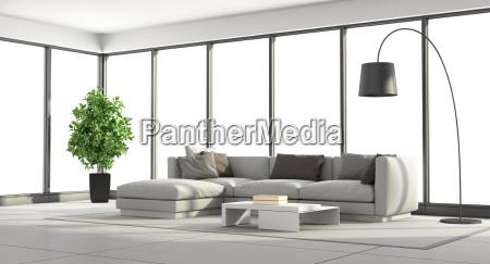 minimalistyczny pokoj dzienny