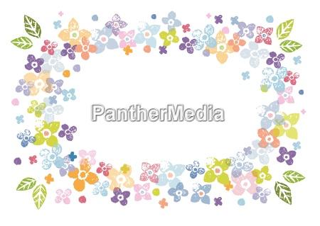 kolorowy kwiatowy ramka