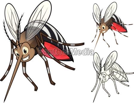 wysokiej jakosci szczegolowe komary cartoon character