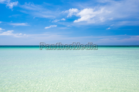 blue sky and horizon over clear