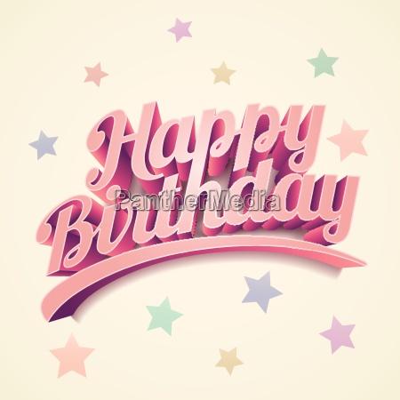 szczesliwy urodziny wektor zwyczaj 3d napis