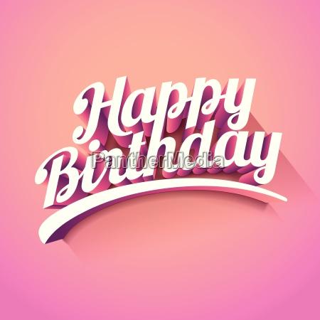 happy birthday vector niestandardowy reczny napis