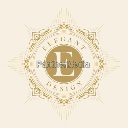 elegancki szablon emblematu wektorowego