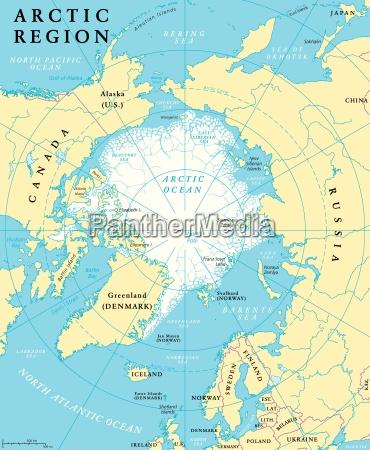 mapa regionow arktycznych