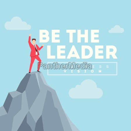 be the leader business concept illustration