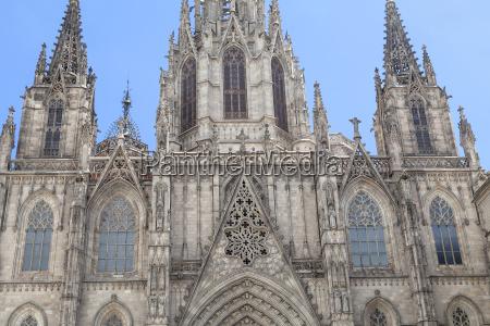 szczegoly katedra barcelona w dzielnicy gotyckiej