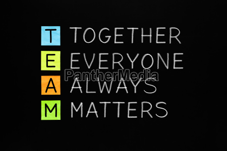 team together everyone always matters
