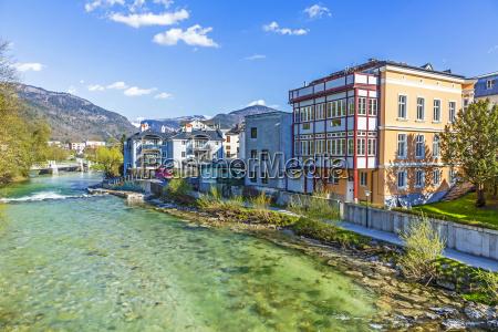 stare miasto bad ischl w rzece