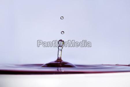 spadek wody z bliska