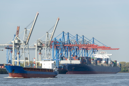 container ship at a container terminal