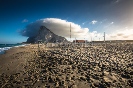 the rock of gibraltar from the