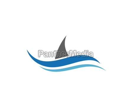 woda fali szablon logo