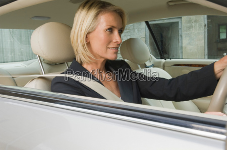 biznes, kobieta, jazdy, samochodem - 18200890
