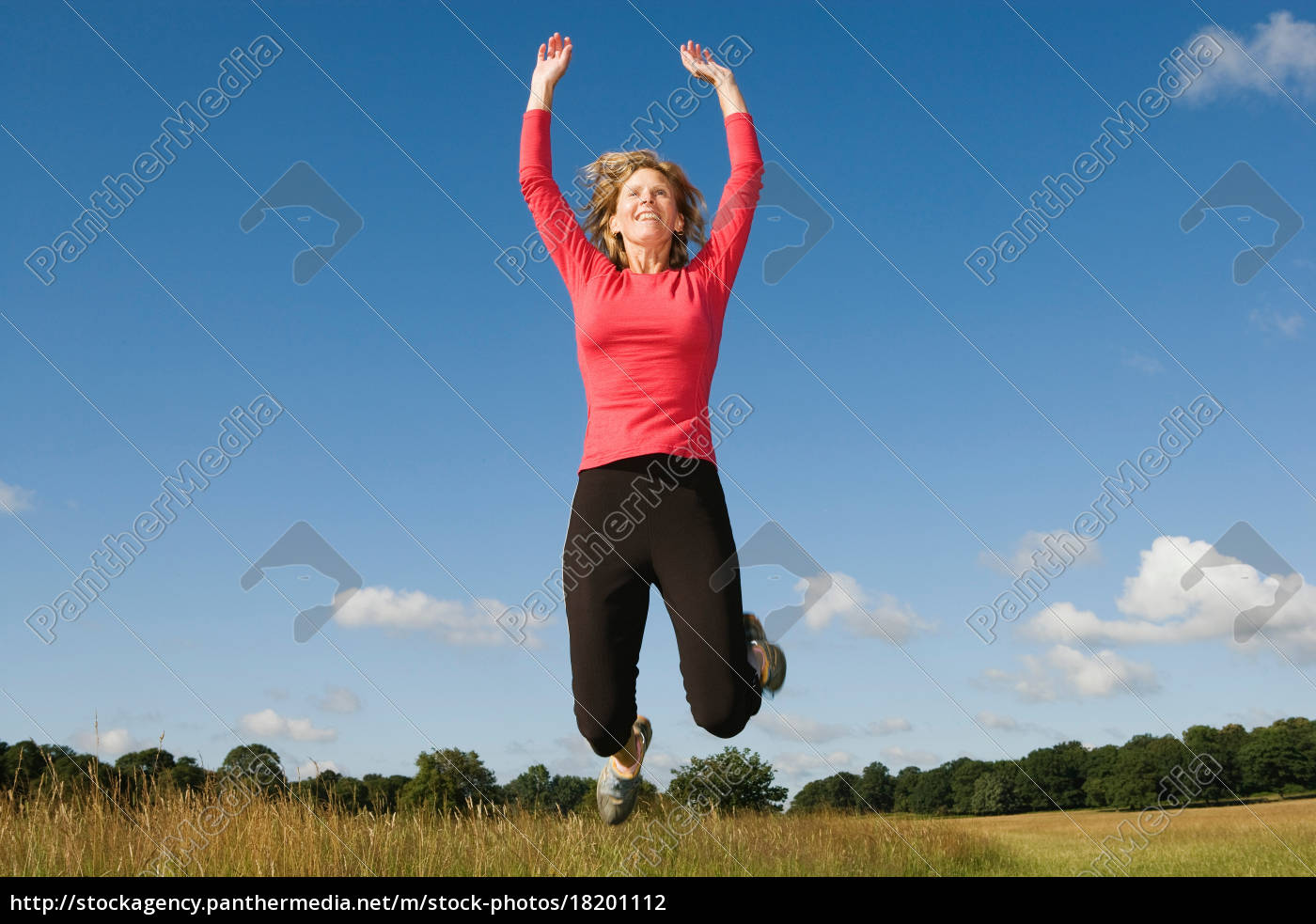woman, jumping, in, field - 18201112