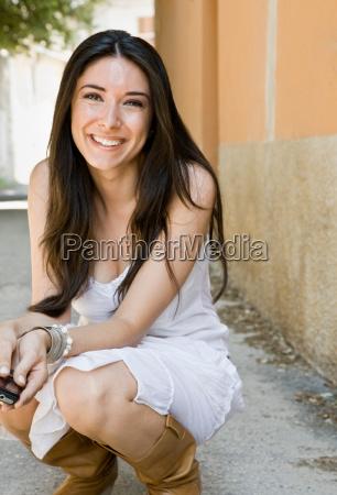 portrait of a smiling woman