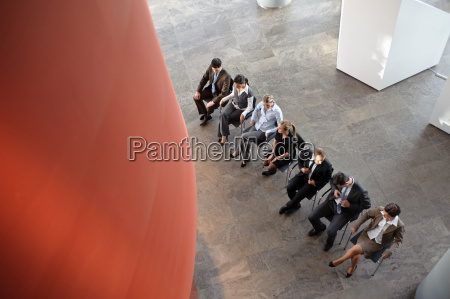 group of business people sitting in