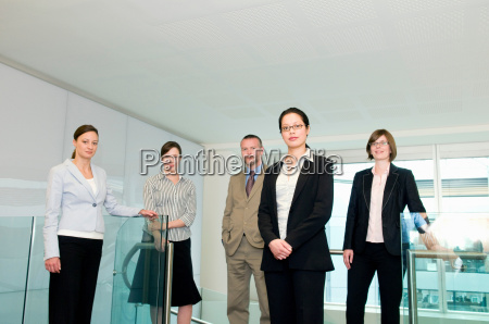a portrait of a business group