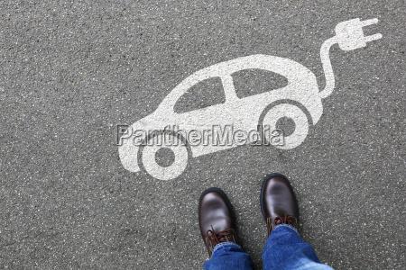 czlowiek czlowiek elektryczny samochod elektryczny samochod