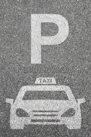 parking taxi samochod parking tarcza pojazd